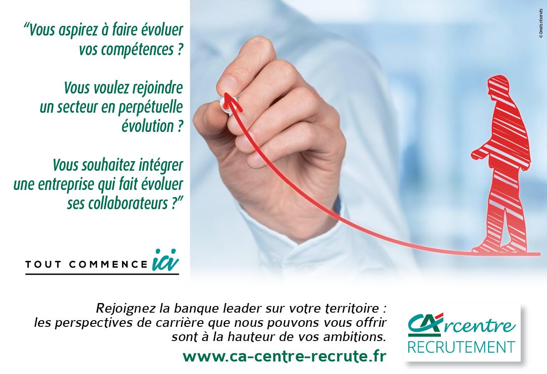 Recrutement : Campagne réseau sociaux Crédit agricole Centre Loire Centre Ouest Touraine Poitou Val de France: Faites décoller votre carrière !!!