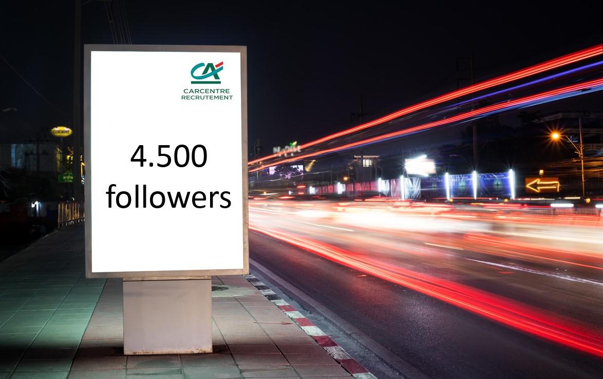 4 500 Followers